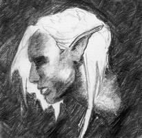 Drow Elf Profile by seneschal