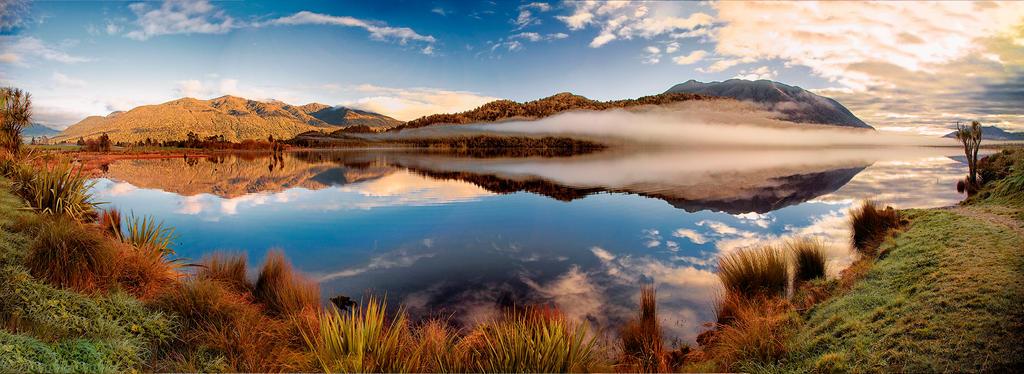 Lake Poerua  by Capturing-the-Light