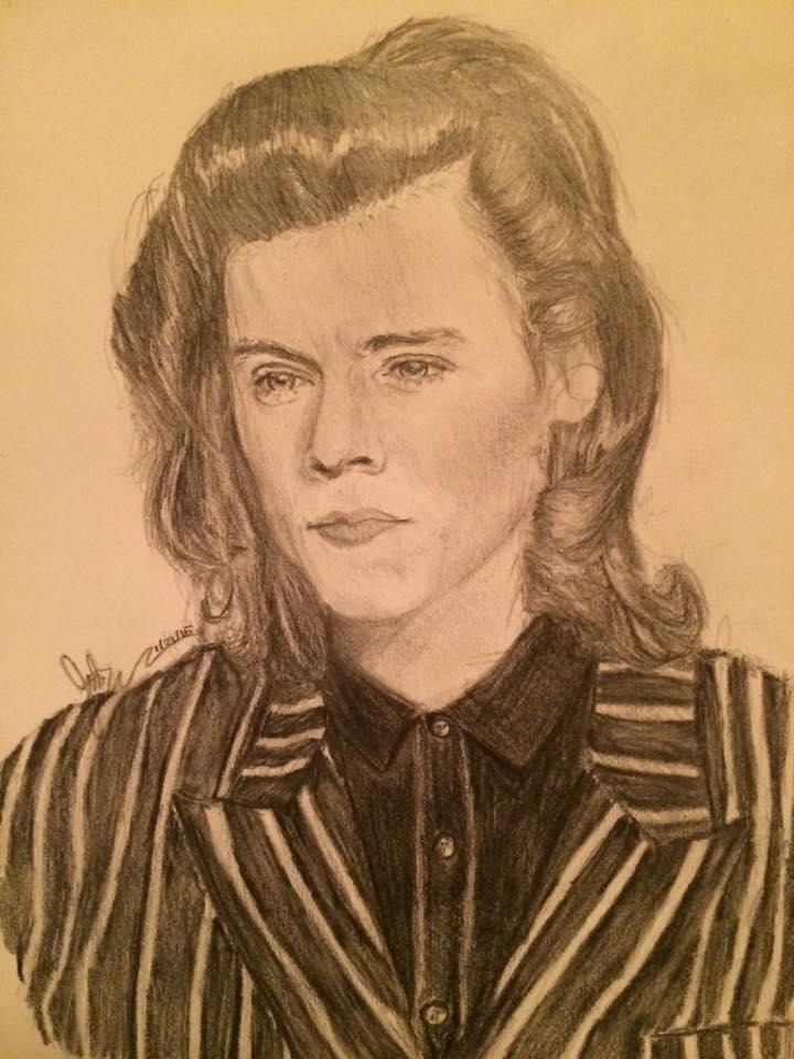 Harry Styles Free Sketch by ArtistJulez
