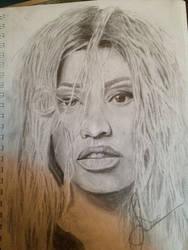 Part of Nicki Minaj drawing process