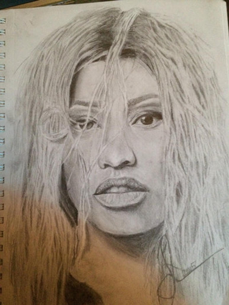 Part of Nicki Minaj drawing process by ArtistJulez