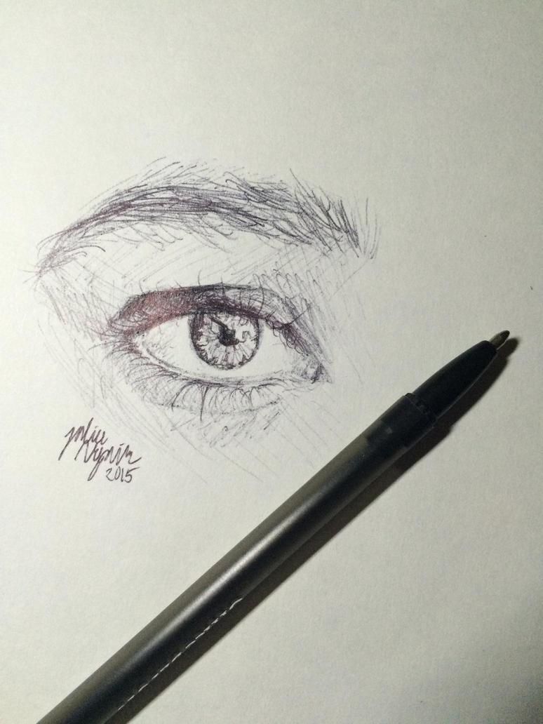Pen Eye Sketch by ArtistJulez