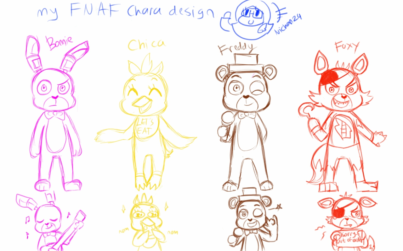 how to draw fnaf characters cute