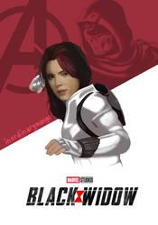 Black Widow Poster by inordinarymango