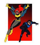 Batgirl and Nightwing