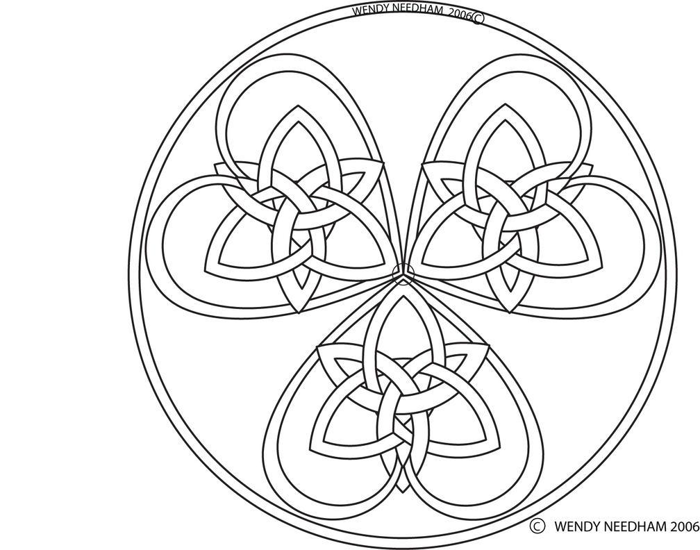 triple celtic knot heart by dinayarose on deviantart