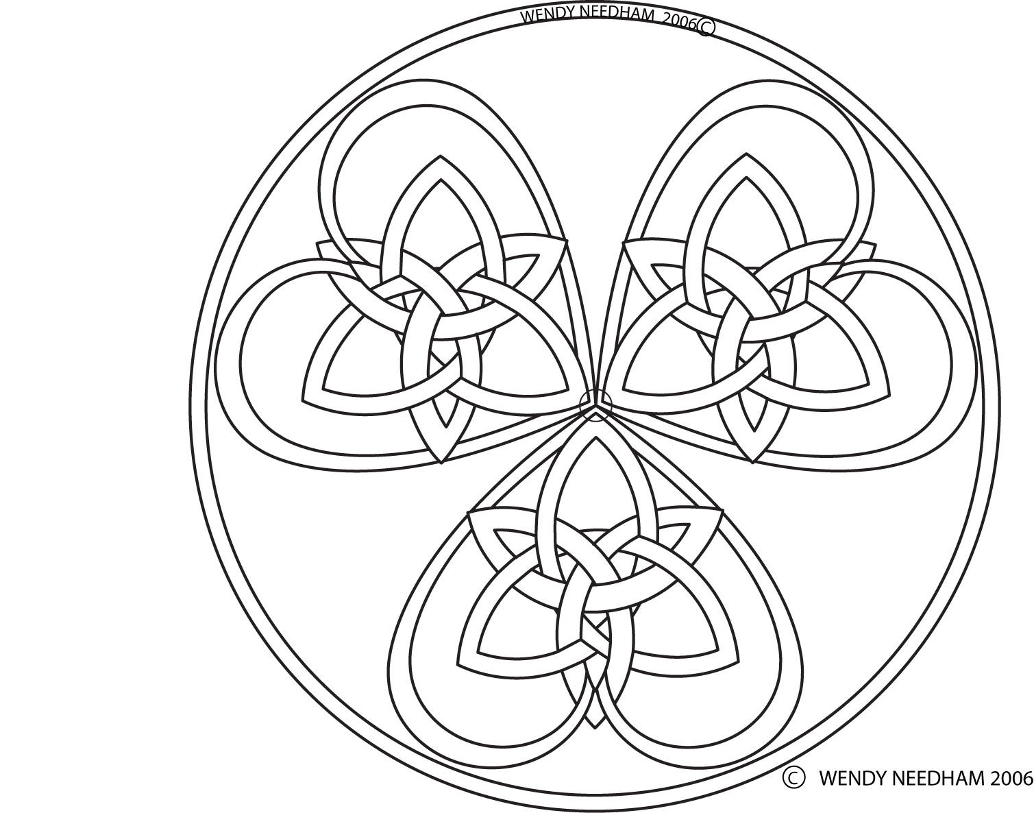 how to draw viking knotwork