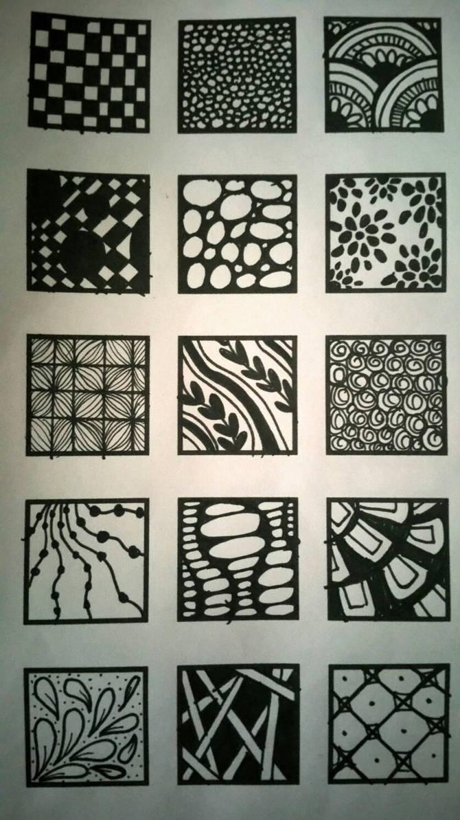 Zentangle Squares 3 - Final by XxOMGsoUniquexX on DeviantArt