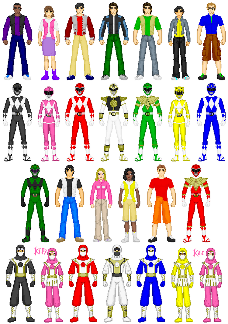 Mighty Morphin Power Rangers by exguardian