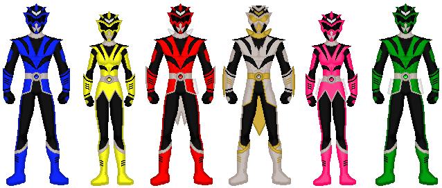 Zedd's Demonic Alien Rangers by exguardian
