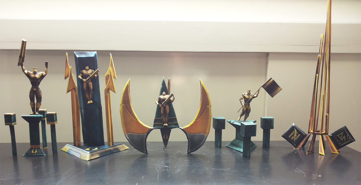 Unreal Tournament Trophies Papercraft