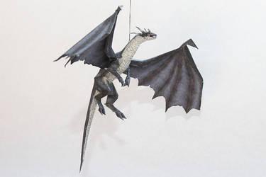 Drakan - Grey Dragon Papercraft