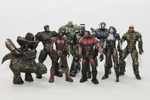 Unreal Tournament '99 Characters Papercraft