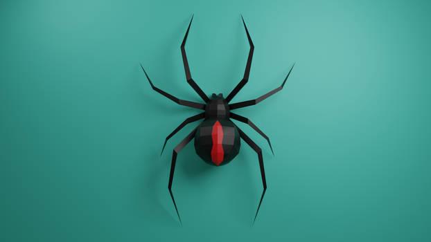 Black Widow Spider Papercraft