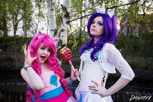 Pinkie Pie and Rarity by SophieRiis