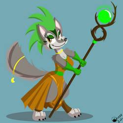 Claire, Wolf Druid