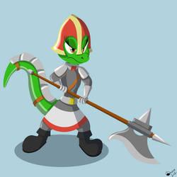 Nessa, Lizard Halberdier