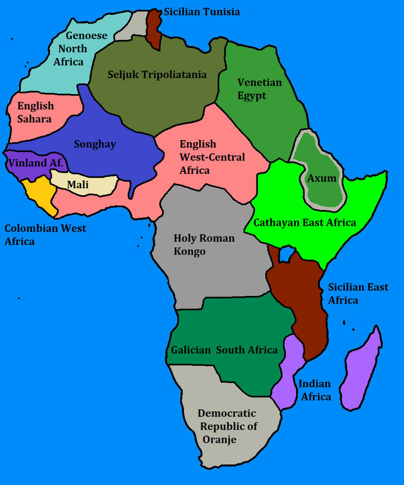 Weird Africa By GoliathMaps On DeviantArt - Africa map