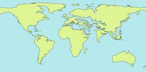 Oligocene Blank Map