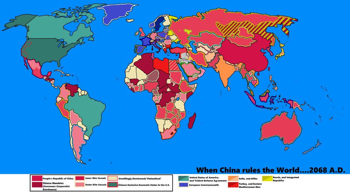 When China Rules The World By GoliathMaps On DeviantArt - Map of us and china