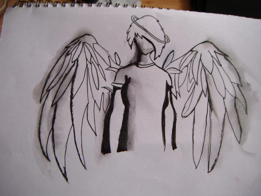 Emo anime angel boy