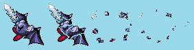 Dark Meta knight KSA Death Animation Sprites