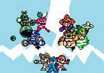 Megamanmaker 1.5 Promo Art In 8-bit Style