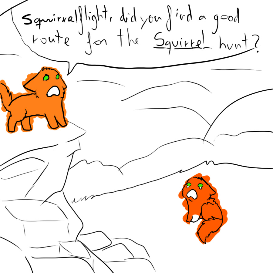 Warrior cat coloring games - Squirrel Hunt By Xxhoneywingxx Squirrel Hunt By Xxhoneywingxx
