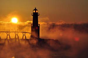Lake Michigan Steams by NorthOne