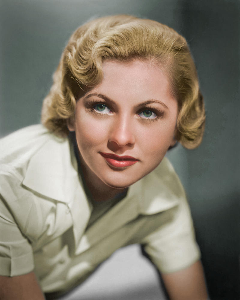 Joan Fontaine Colorized by NorthOne