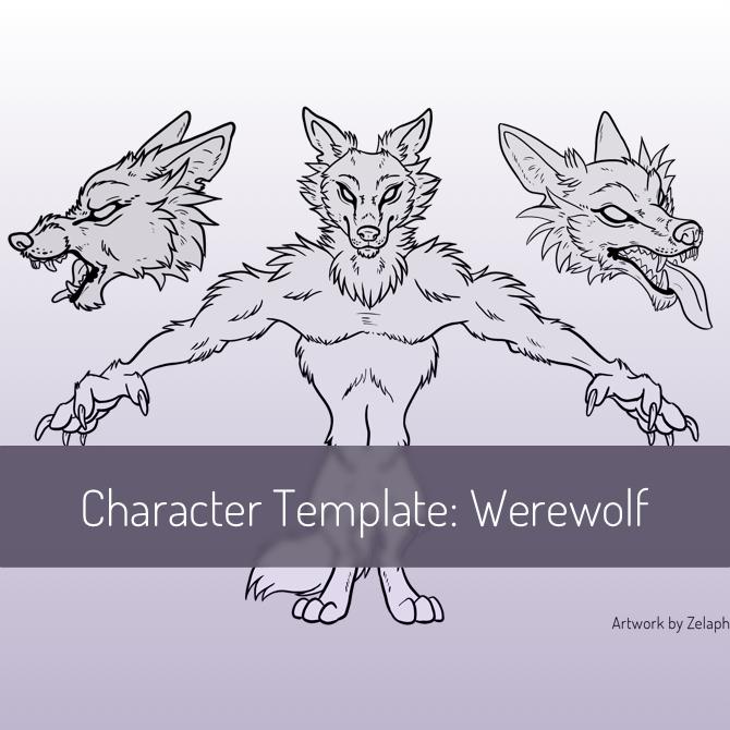 Character Design Template: Werewolf by Zelaphas on DeviantArt