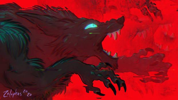 Glitchy Werewolf