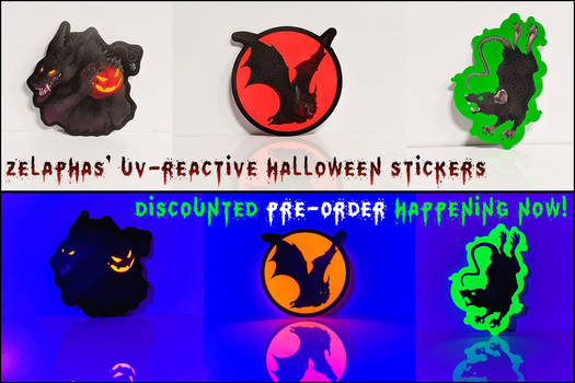 They glow under blacklight! Pre-Order open now