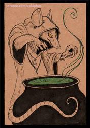 Kelby the cauldron master (Patron ink card)
