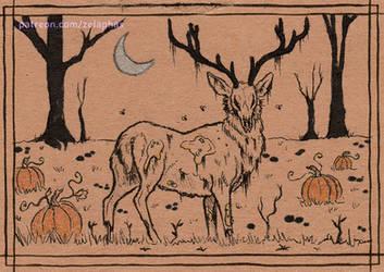 Zombie Deer (Patron ink card)