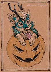 RedEye's pumpkin! (Patron ink card)