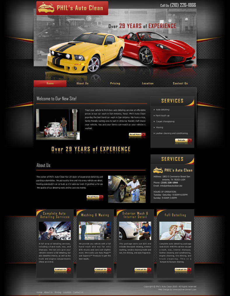 phil 39 s auto clean website by bjworks on deviantart. Black Bedroom Furniture Sets. Home Design Ideas