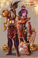 Chinese new year! Vayne and Sejuani firecracker by AnnaPerci