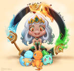 Qiyana and Startes Pokemon!