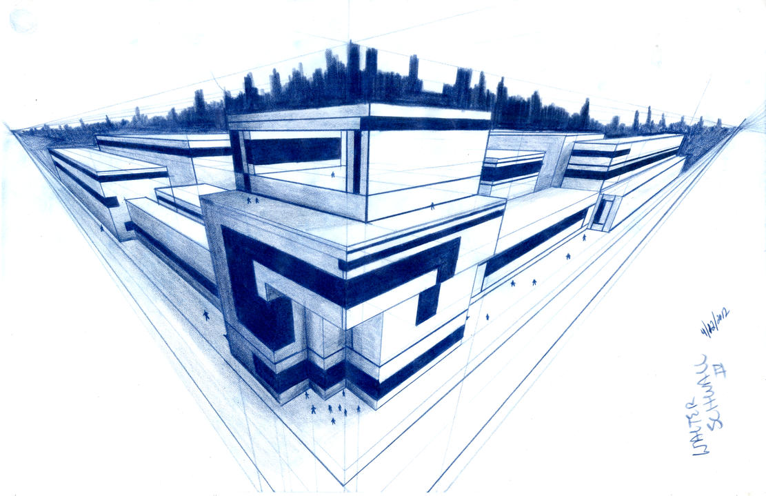 Random 3 point cityscape design class work by for Buy architectural plans