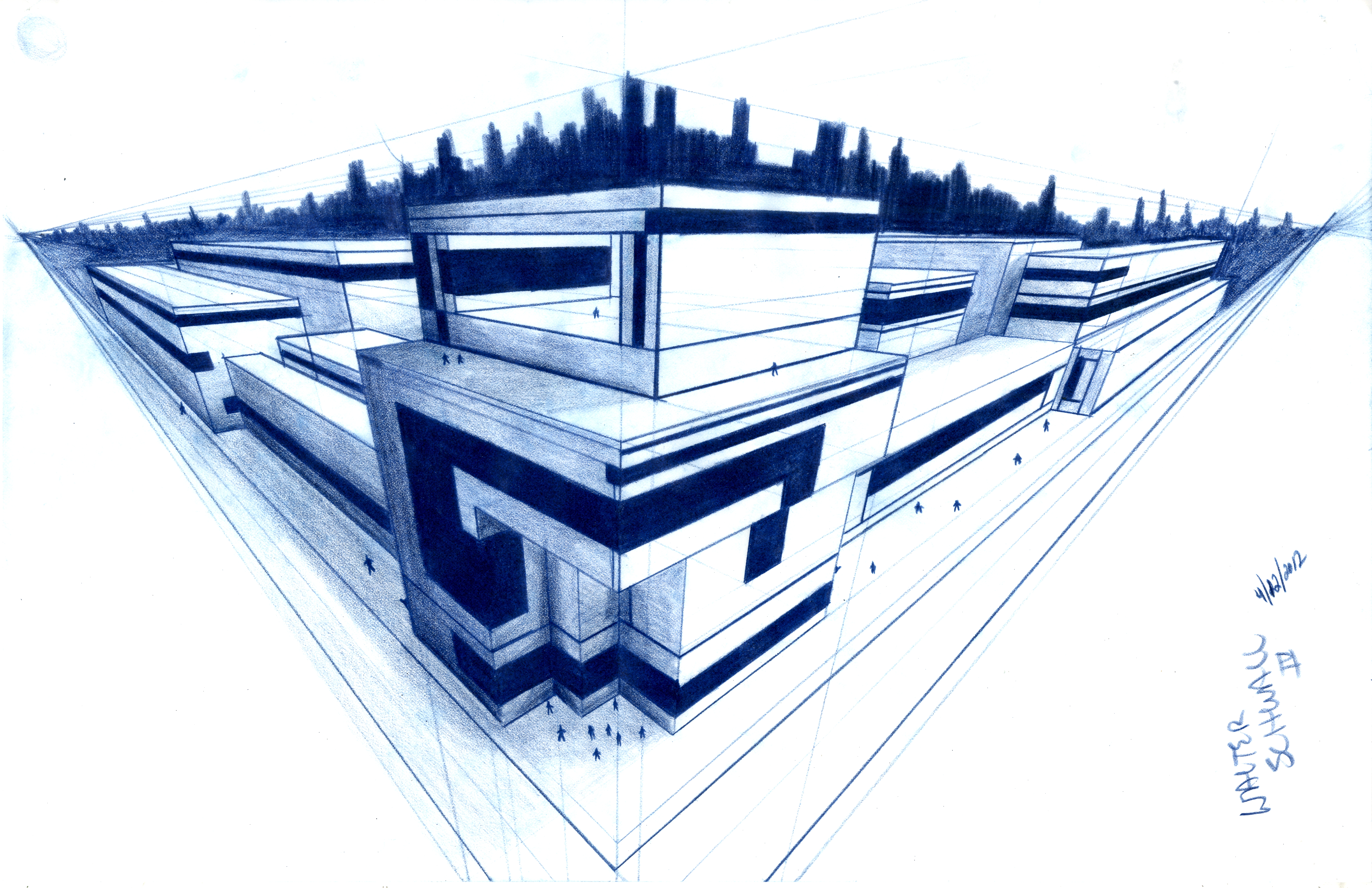 Random 3 point cityscape design class work by for Different architectural designs