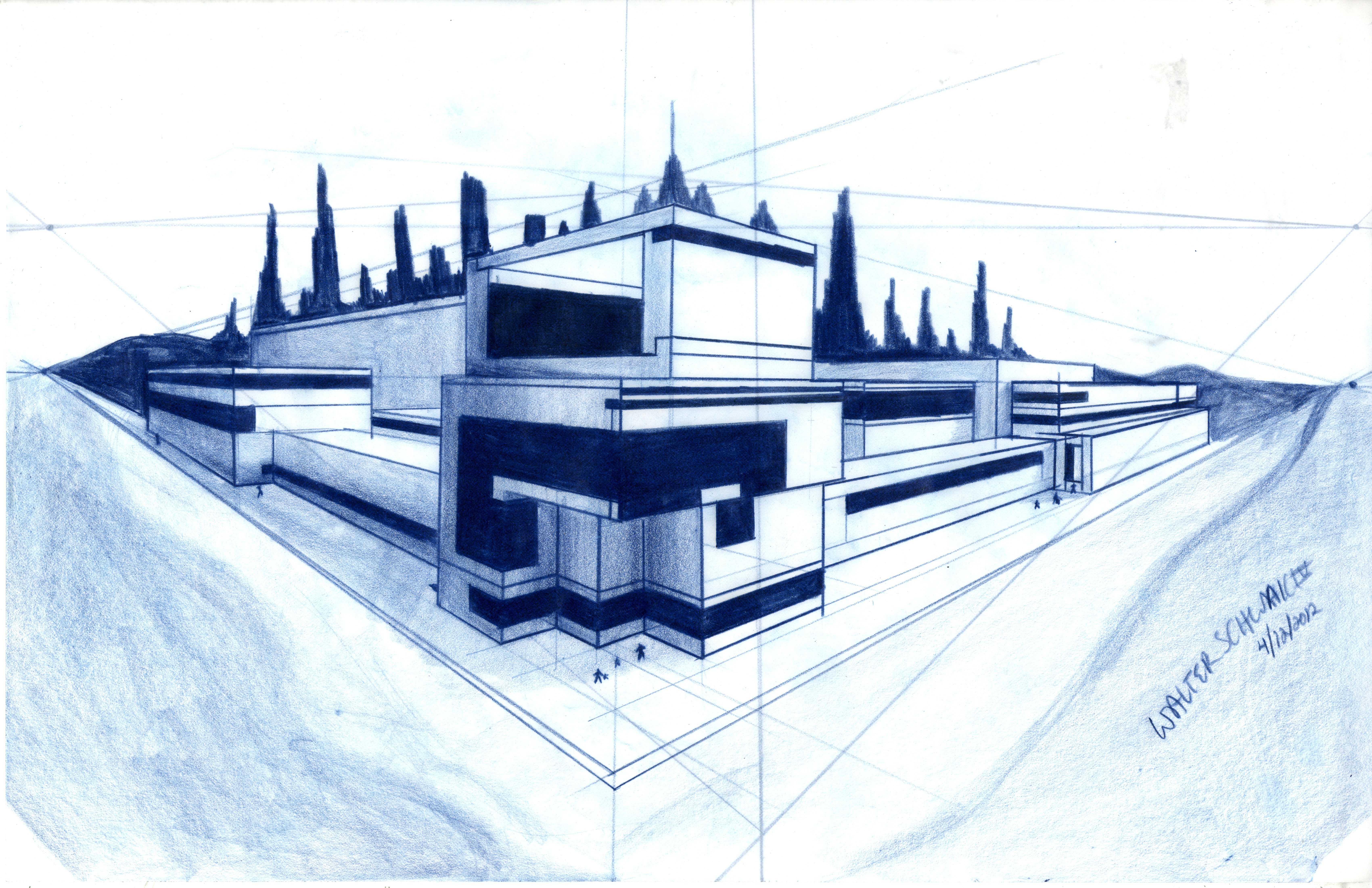 2 point random architecture design basic design 1 by for Blueprint architectural design