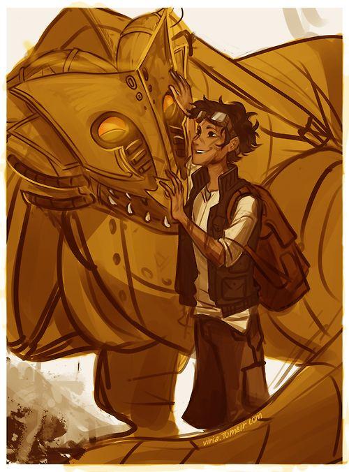 Leo Valdez and Festus by KayLeeTheDreamer