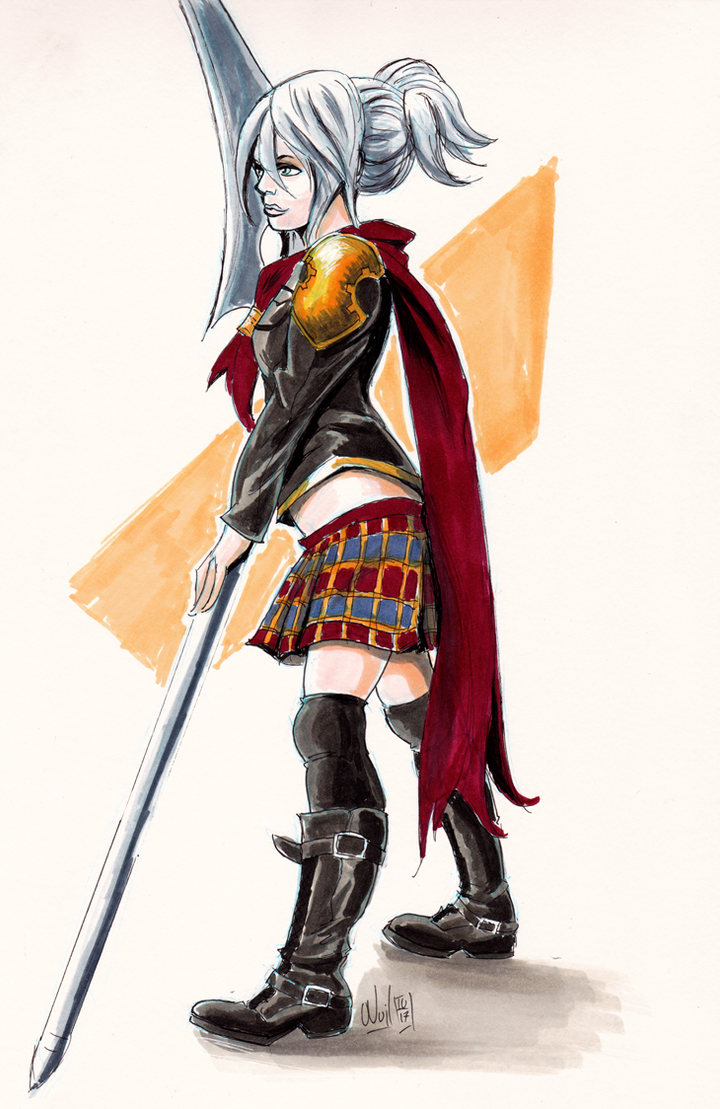Final Fantasy Type 0 Cosplay (inktober #04) by Beuzer0