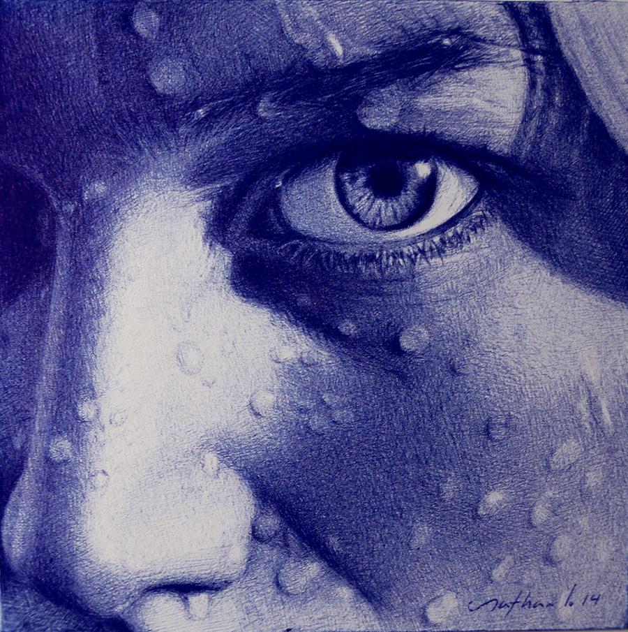 Inside - Ballpoint pen drawing by LopezLorenzana