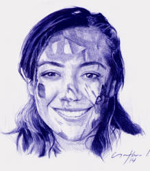 Quick and dirty sketch with ballpoint pen by LopezLorenzana