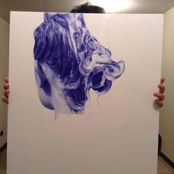 WIP - Ballpoint pen drawing - Holographie I