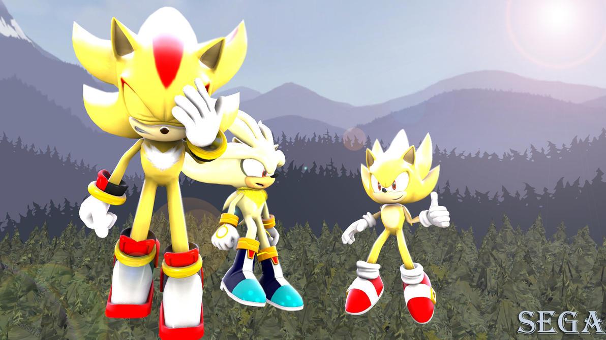 (SFM)-Sonic X. Super hedgehogs by marionette511