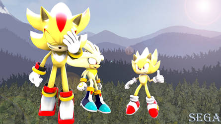 (SFM)-Sonic X. Super hedgehogs by marionette511