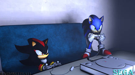 Sonic And Shadow by marionette511
